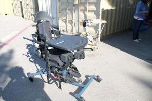 Bantum Middle Sit to Stand Stander. Side View
