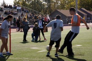 special olympics kids playing soccer